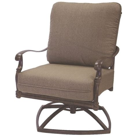 Abrego all weather wicker swivel rock lounge chair pottery barn. Darlee Florence Swivel Patio Rocker Club Chair with ...