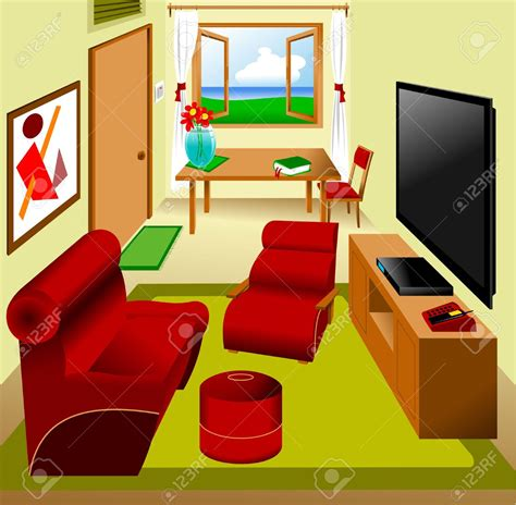 livingroom or living room living room clipart sitting room pencil and in color