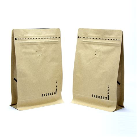 At zxpac, the coffee bag degassing valve technology employed in our pouches helps to allow air out from the bag without letting air in. *Kraft Coffee Bag with Valve* Stock Bags : Buy It Now ! | Lemonifoodpackaging.com