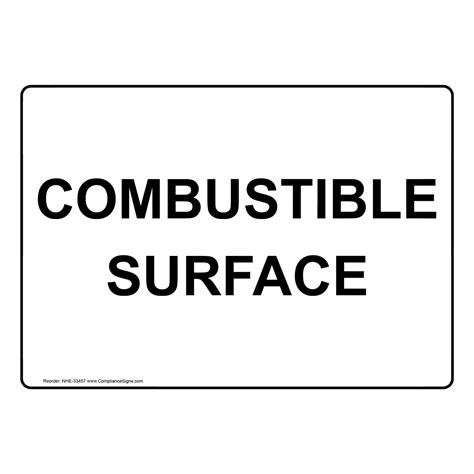 how to right a letter combustible surface sign nhe 33457 33457