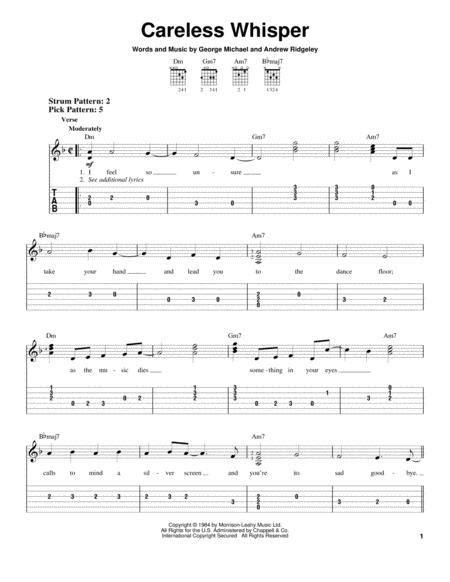 Careless whisper trombone sheet music. Careless Whisper Piano Sheet Music - Music Sheet Collection