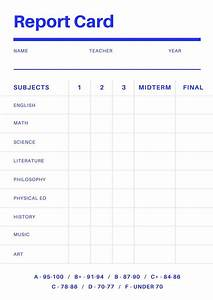 fake college report card template best business template With fake college report card template
