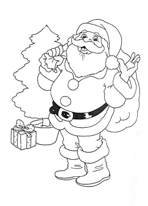 Santa Pictures Back to Coloring pages santa clause