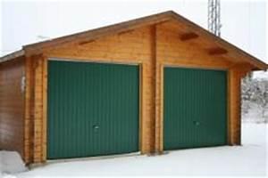 Fertiggaragen Aus Holz : doppelgarage aus holz mit gr nen schwingtore 2 stck mit ~ Articles-book.com Haus und Dekorationen