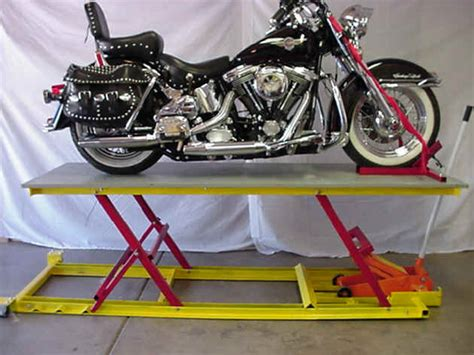 Homemade motorcycle lift table plans. Homemade moto table lifts? | Adventure Rider