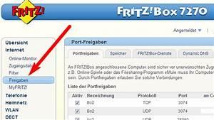 FritzBox 7270 Ports Freigeben Portforwarding