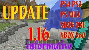 Minecraft UPDATE 116 Actualizacion Informativo PS4