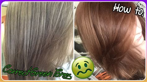 Toned Hair by Correct Green Toned Hair How To