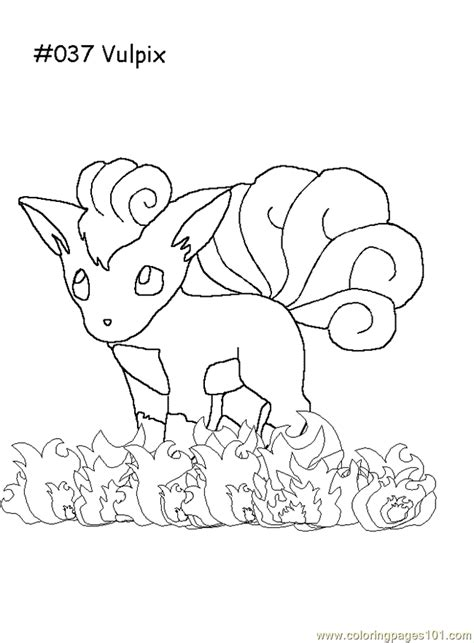 vulpix coloring page  pokemon coloring pages