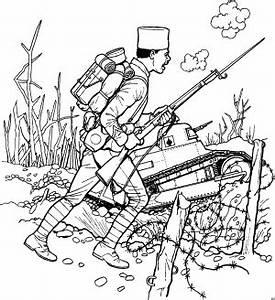 Soldat Im Krieg Ausmalbild Malvorlage Schlachten