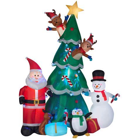gemmy animated christmas tree scene inflatable bjs