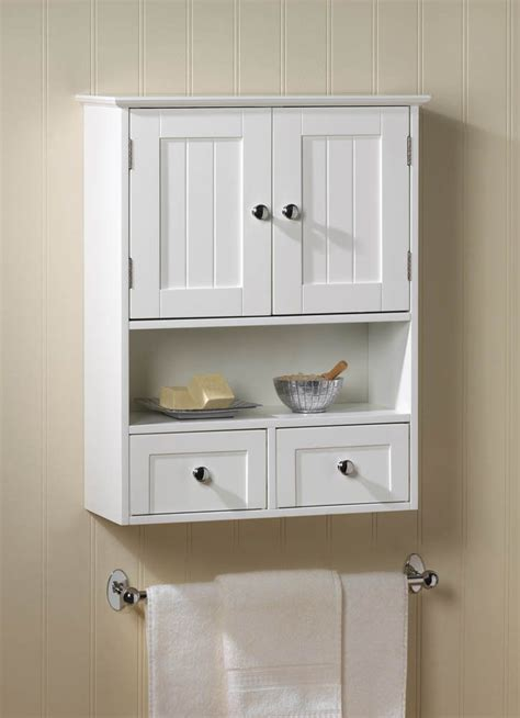 white  drawer hanging bathroom wall medicine cabinet