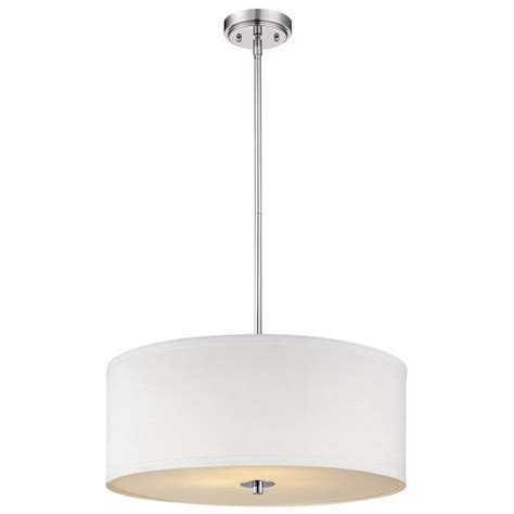 white drum pendant light contemporary pendant light with white drum shade in chrome
