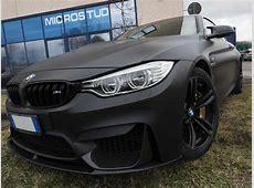 Car Wrapping BMW M4 nero opaco metallizzato