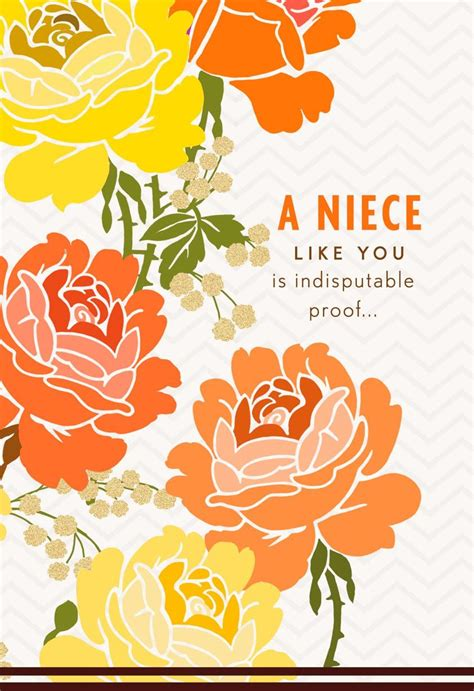 Orange And Yellow Roses Mothers Day Card For Niece