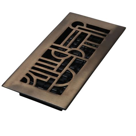 Rubbed Bronze Floor Registers by Decor Grates 4 In X 12 In Solid Brass Rubbed Bronze