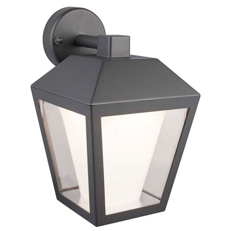 blooma dalton grey mains powered external wall light