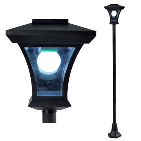 outdoor solar l post solar light l post outdoor new 1 68m solar powered l