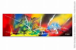 Tableau Contemporain Grand Format : tableau color contemporain bouleversement plan taire ~ Teatrodelosmanantiales.com Idées de Décoration