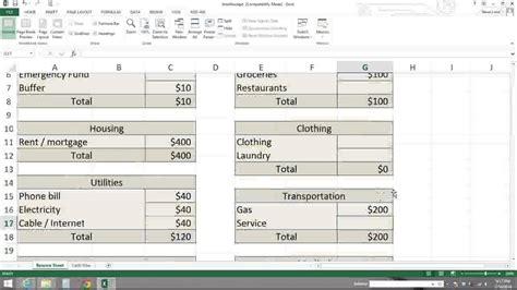 zero based budgeting template zero based budget spreadsheet