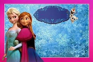 Frozen: Free Printable Kit with Fucsia Border Oh My
