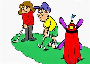 Mini golf clip art