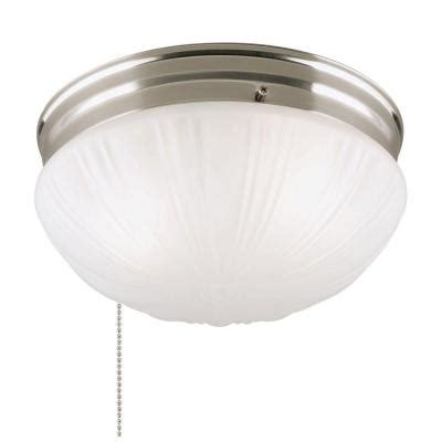 home depot ceiling lights with pull chains westinghouse 2 light brushed nickel flushmount interior