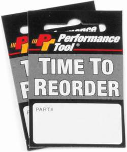 product reorder tags With inventory reorder tags