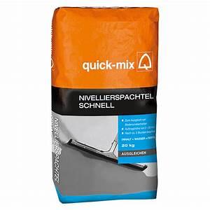 Ausgleichsmasse Quick Mix : quick mix nivellierspachtel schnell 20 kg schichtdicke ~ Michelbontemps.com Haus und Dekorationen