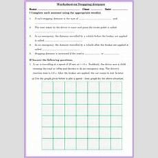Worksheet On Stopping Distance By Drkknaga  Teaching Resources