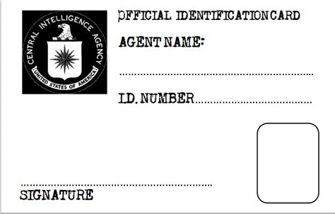 baby hes  id card template secret agent party