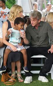 Sean Penn Shares His Snow Cone With Charlize Theron's Son ...