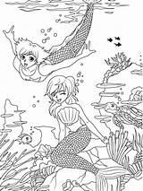 Coloring Pages Merman Mermaid Sheets Printable Beach Dover Adult Publications Template Manga Doverpublications Welcome Travel Prince Pop Books sketch template