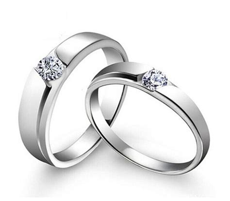 sz4 11 s925 silver couple ring simple cz engagement ring women s wedding band ebay