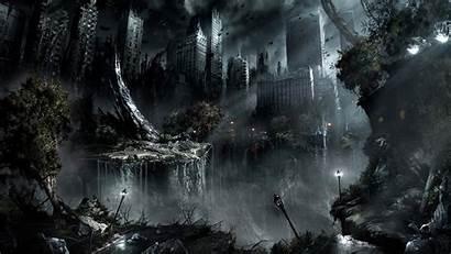 Fantasy Dark Landscape Cool