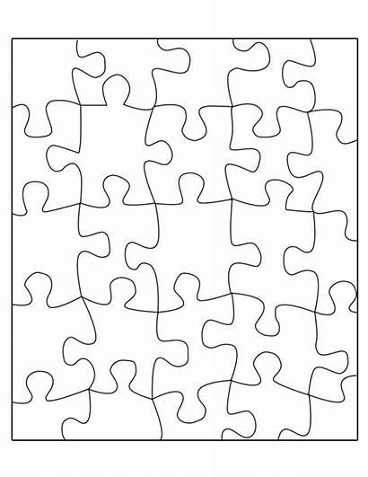 Puzzle Template Transparent Printable Piece Overlay Blank