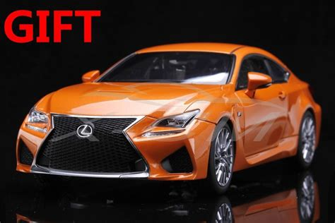 lexus rcf sedan car model lexus rcf 1 18 orange small gift ebay