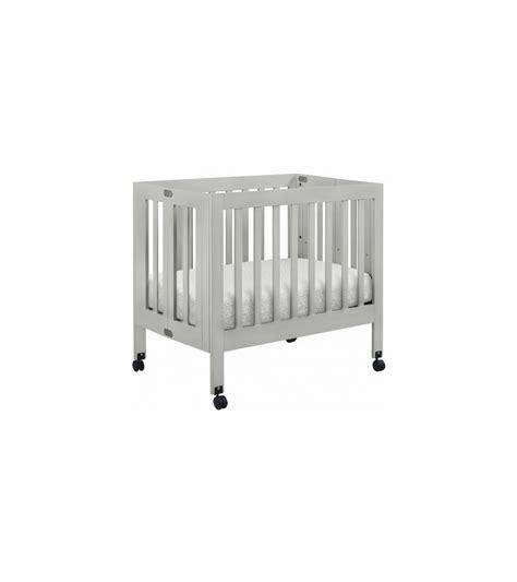 babyletto mini crib babyletto origami mini crib in grey