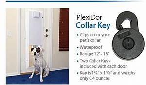plexidor electronic pet doors are available With electronic dog door installation