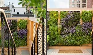 Mur Vegetal Exterieur : mur v g tal ext rieur pour conf rer un attrait colo ~ Melissatoandfro.com Idées de Décoration