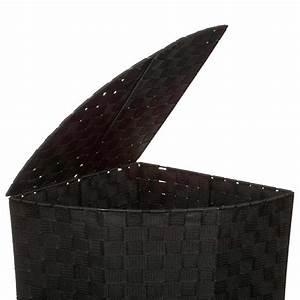 Panier A Linge Noir : panier linge d 39 angle 60cm noir ~ Teatrodelosmanantiales.com Idées de Décoration
