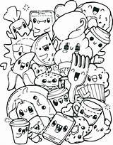 Breakfast Coloring Pages Healthy Getdrawings sketch template