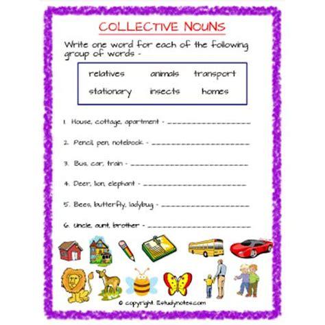 english collective nouns worksheet 4 grade 2 estudynotes