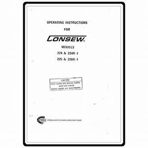 Instruction Manual  Consew 226r