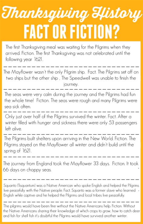 thanksgiving facts for preschoolers thanksgiving history fact or fiction adventures 992