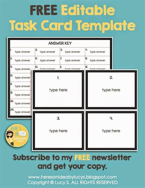 editable newsletter template 18 best free task card templates images on card patterns card templates and paper