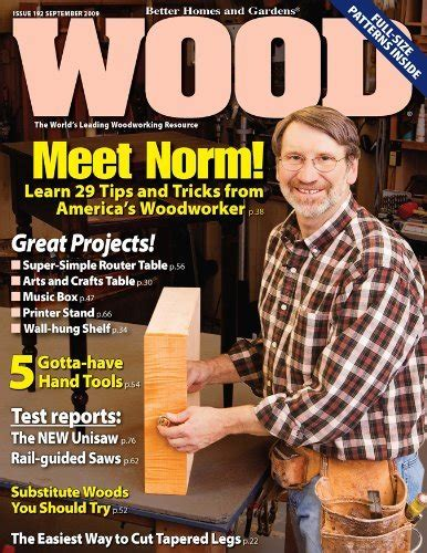 woodwork wood magazine  plans