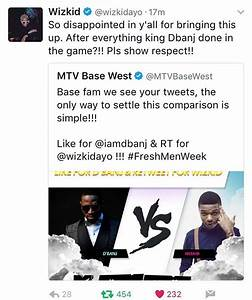 DBanj replies Wizkid after MTV Base compared them ...