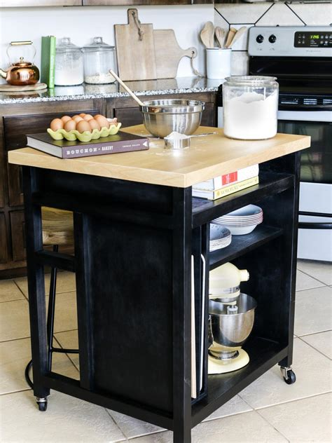 how to build a movable kitchen island how to build a diy kitchen island on wheels hgtv