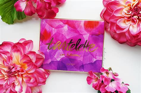 blushing introvert tarte tartelette   bloom palette review swatches